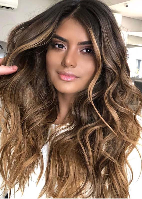 modern brunette balayage hair colors for long hair in 2019