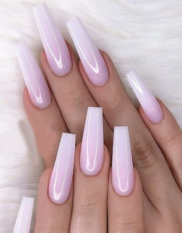 Gorgeous Milky Pink Coffin Nails & Designs for 2019