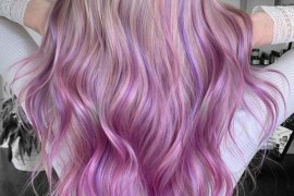 Pink balayage hair color ideas and shades for 2019