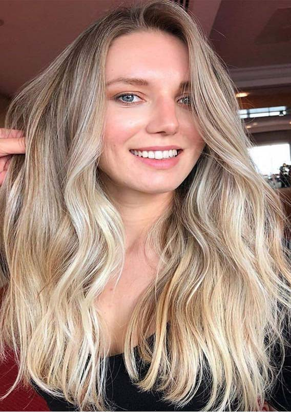 Brightest Blonde Balayage Hair Colors for Summer 2019