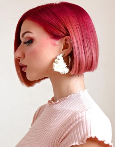 Lovely Short Red Haircuts & Styles for the year of 2019
