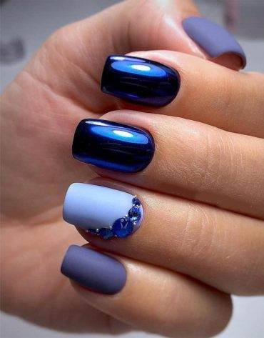 Gorgeous Blue Nail Colors & Images for your Finger