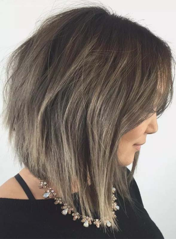 Medium Layered Angled Hairstyles for Women to wear in 2019