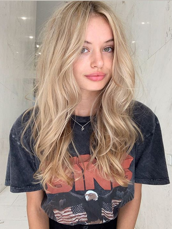 Champagne blonde Hair Color Blends for Women 2019