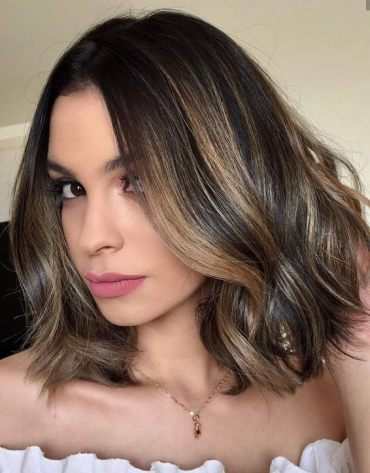 Delightful Short Brown Hairstyles with Dark Roots In 2019