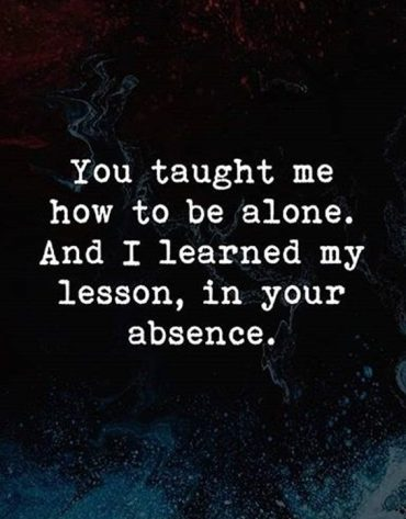 I Learn My Lesson - Best Quotes for Love