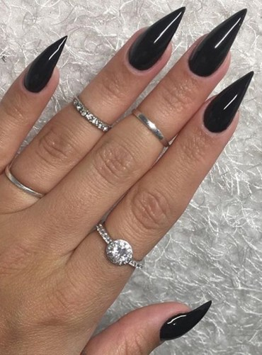 Bold Black Nail Art Designs for Women 2019