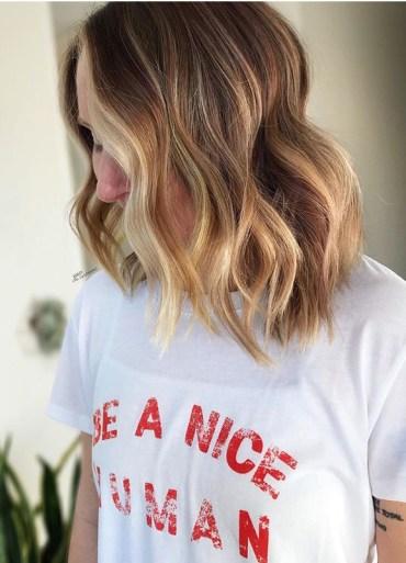 Face Framing Balayage Haircuts with Babylights in 2020