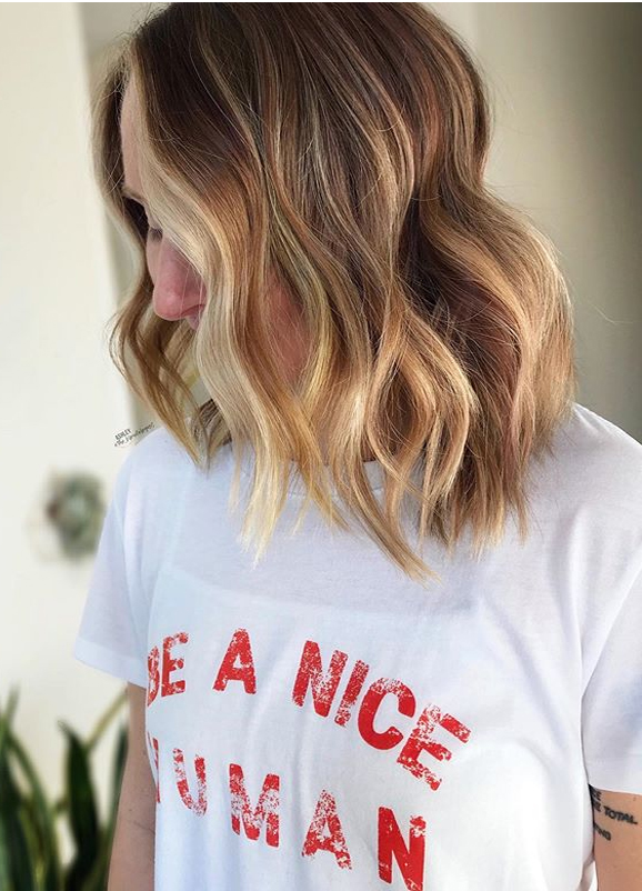 Face Framing Balayage Haircuts with Babylights in 2020