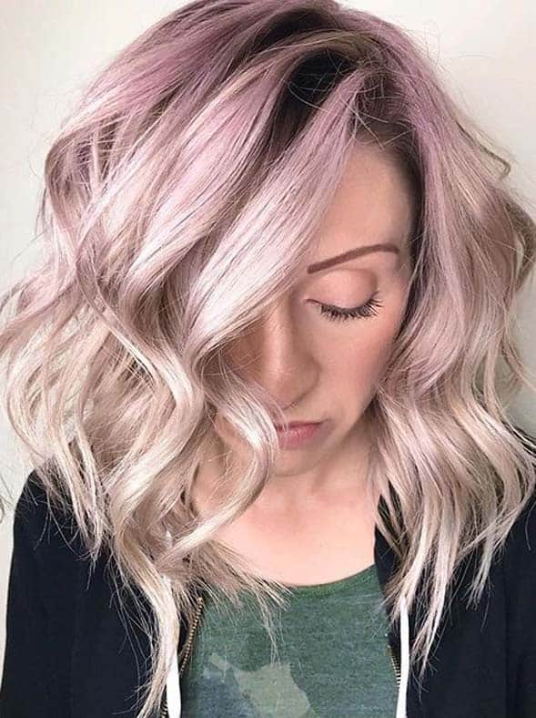 Beautiful rose gold lavender hair color melt in 2020