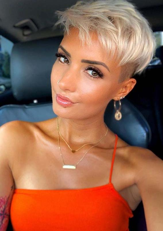 Fantastic Short Pixie Blonde Haircuts for Women 2020