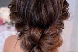 Romantic bridal Updo Hair styles for Women 2020