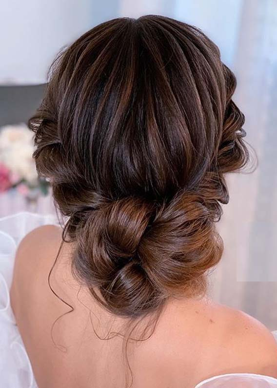 Romantic bridal Updo Hair styles for Women 2020