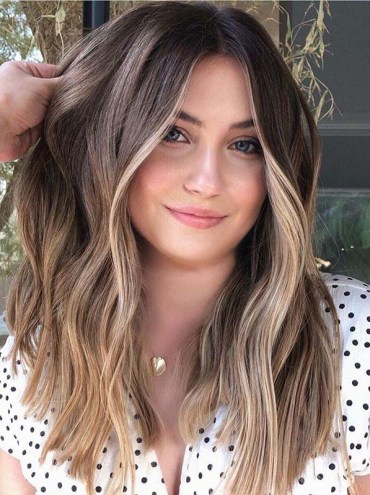 Face Framing Medium to Long Balayage Hairstyles in Year 2020