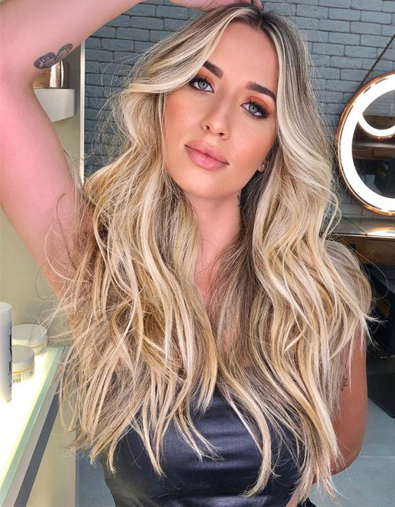 Stunning Blonde Highlights & Hair Color Style for Long Hair