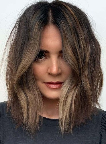 Latest Textured Lob Haircuts and Hairstyles