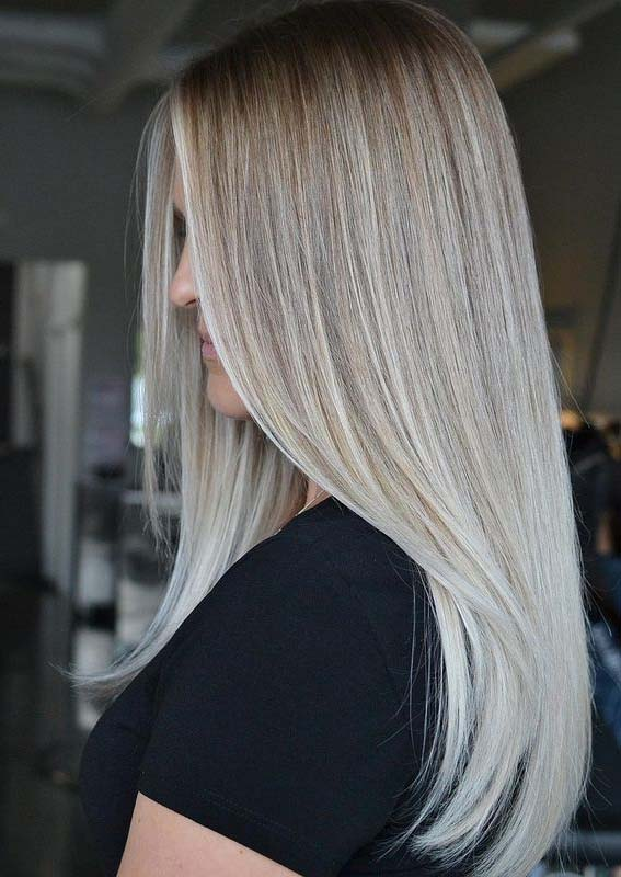 Fabulous Blonde Hair Colors with Dark Roots