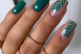 Fresh Look of Green Nail Trends to wear Now
