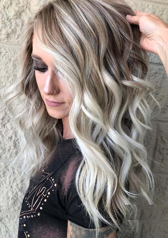 Awesome High Contrast Blonde Hair Color Ideas