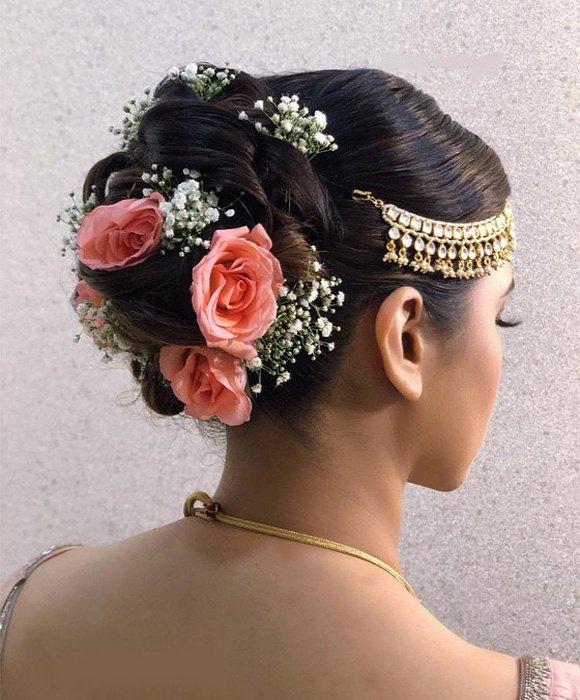 Dreamy Updo with Flowers