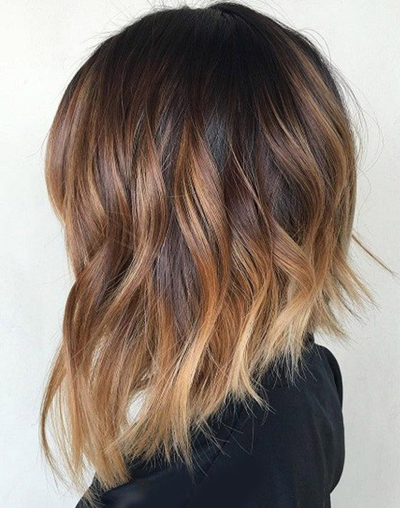 Angled Lob Hairstyle & Cuts
