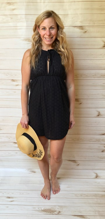 Eyelet Keyhole Beach Dress, $34 in white and black