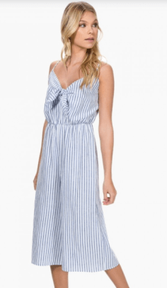 Everly Blue/White Stripe Jumper, $36