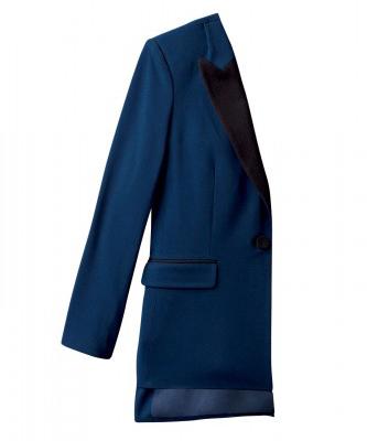3.1 Tuxedo Jacket in Navy/Black, $59.99