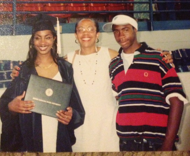 My mom, youngest brother, and I - NC State University