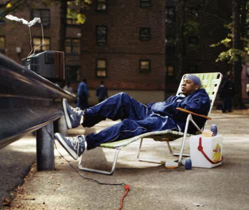 jay z in beachchair- Brooklyn