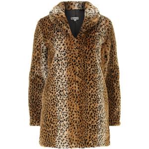 Dorthy Perkins Leopard Print Faux Fur Coat