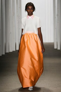 Honor_Orange Skirt_Collar Shirt