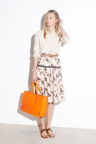 Tomas_Maier_Orange Bag_Midi Skirt