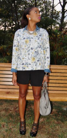 Yana B. Style Stamped Floral Sweatshirt H&M