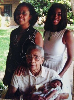 My grandma, mom, me, and daughter - 4 generations