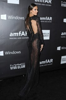 Alessandra Ambrosio at the amFAR in Zuhair Murad
