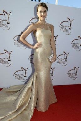 Jessica Alba at the Golden Butterfly Awards in Romona Keveza