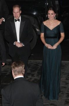 Kate Middleton at the MET for St. Andres 600th Anniversary Dinner in Jenny Packham