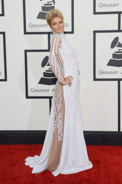 Paris at the 56th Grammy's in House of Milani