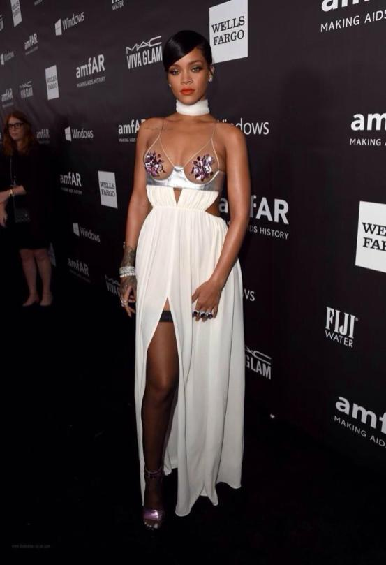 Rihanna in Tom Ford at amFAR 2014