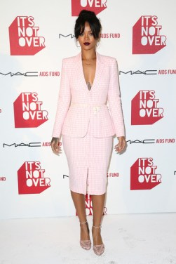 Rihanna in Altuzarra at MAC event Photo: Imeh Akpanudosen/Getty