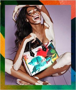 Desigual bag ad Winnie Harlow