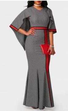 Rotita Printed Polkadot mermaid dress