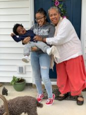 My mom and my kids