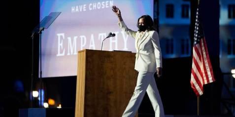 Kamala Harris White Suit Style Stamped