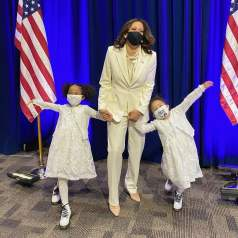 Kamala Harris with Neices