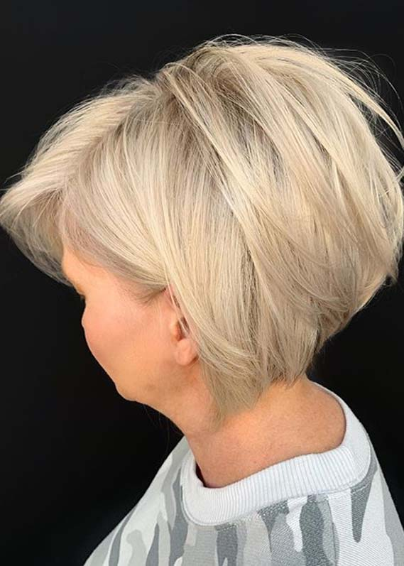 Amazing Short Bob Hair Cuts with Blonde Shades in 2020