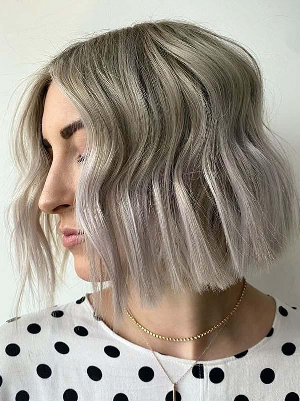 Ash Grey Blunt Cut Bob Hair Looks for Girls in 2020