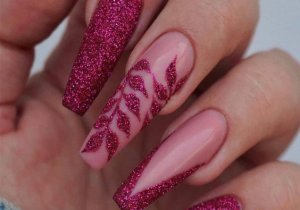 Charming Style of Long Coffin Nails for Glamorous Girls