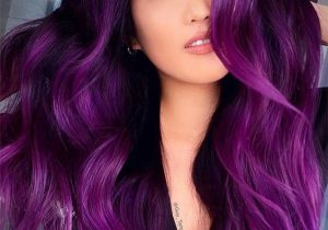 Romantic Purple Hair Color Ideas for Long Hair